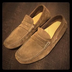 Tommy Hilfiger Suede Penny Loafers
